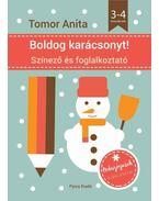 Boldog karácsonyt! - Színező és foglalkoztató - 3-4 éveseknek