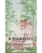 A Bakony turistatérképe (nyugati rész)