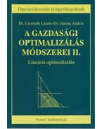 A gazdasági optimalizálás módszerei II.
