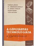 A gépgyártás technológiája II. Gyártástervezés