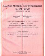 A Magyar Mérnök- és Építészet-Egylet Közlönye 1931