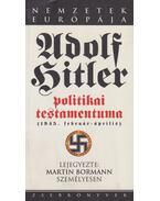 Adolf Hitler politikai testamentuma