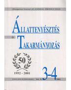 Állattenyésztés és takarmányozás Vol. 51. (2002/3-4.)