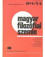 Magyar filozófiai szemle 1974-2-3
