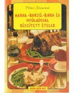 Marha,-borjú,-birka és nyúlhússal készített ételek