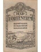 Hadtörténelem 1921. 3. szám