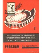 VIII. Atlétikai Európa-Bajnokság program 1966. 2.
