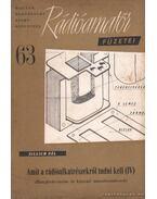 Amit a rádióalkatrészekről tudni kell (IV)