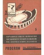VIII. Atlétikai Európa-Bajnokság program 1966. 5.