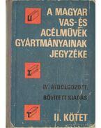 A Magyar Vas- és Acélművek gyártmányainak jegyzéke