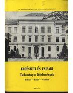 Erdészeti és faipari Tudományos közlemények 1989. év 1. sz.