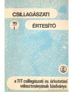 Csillagászati értesítő 1985/1. szám