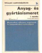 Anyag- és gyártásismeret I. osztály (tankönyvpótló jegyzet)