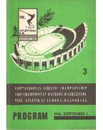 VIII. Atlétikai Európa-Bajnokság program 1966. 3.