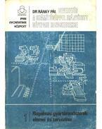 Bevezetés a számítógéppel irányított gépipari rendszerekbe 1.