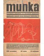 Munka 20. szám (1931 november)