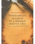 Verselméleti tradíció és a modern magyar líra