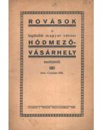 Rovások a legősibb magyar város: Hódmezővásárhely multjáról