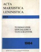 Tudományos szocializmus tanulmányok 1984.