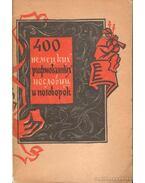 400 német rímelő példabeszéd és közmondás