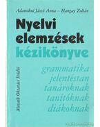 Nyelvi elemzések kézikönyve