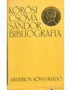Kőrösi Csoma Sándor bibliográfia