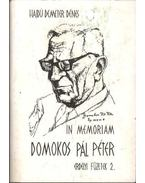 In memoriam Domokos Pál Péter