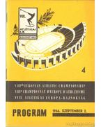 VIII. Atlétikai Európa-Bajnokság program 1966. 4.