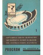 VIII. Atlétikai Európa-Bajnokság program 1966. 1.