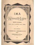 Ima Kossuth Lajos temetése alkalmából
