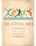 Erő, szépség, öröm - Országos sportnapok 1963.