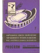 VIII. Atlétikai Európa-Bajnokság program 1966.