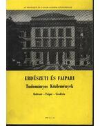 Erdészeti és faipari Tudományos közlemények 1982. év 1. sz.