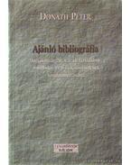 Ajánló bibliográfia