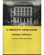 Az erdészeti és faipari egyetem tudományos közleményei 1978.