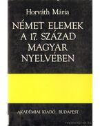 Német elemek a 17. század magyar nyelvében