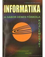 Informatika -A Gábor Dénes főiskola közleményei  2005. szeptember 3. szám