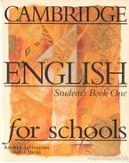 Cambridge English for schools - Student's Book One