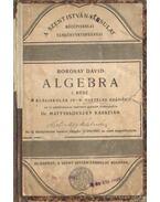Algebra I. rész reáliskolák IV-V. osztálya számára