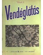Vendéglátás I. évfolyam 2. szám 1957. október