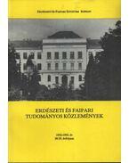 Erdészeti és faipari Tudományos közlemények 1992-1993.év 38-39. évfolyam