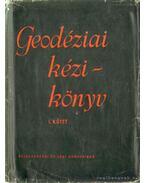 Geodéziai kézikönyv I-III.