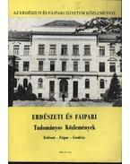 Erdészeti és faipari Tudományos közlemények 1986. év 1. sz