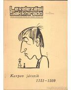 Levelezési sakkhíradó - Karpov játszik