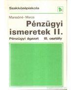 Pénzügyi ismeretek II.