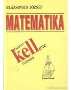 Matematika - Ennyit kell(ene) tudnod