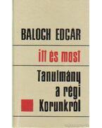 Itt és most - Balogh Edgár