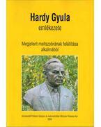 Hardy Gyula emlékezete - Belina Károly Dr.