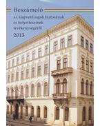 Beszámoló az alapvető jogok biztosának és helyetteseinek tevékenységéről 2013