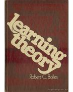 Learning theory - Bolles, Robert C.